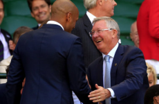 Sir Alex Ferguson and Thierry Henry shared a pretty awkward moment at Wimbledon