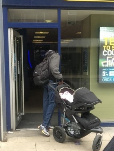 The man who tried to sell a baby has been located