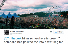 This guy tweeted he was 'trapped in a tent bag' at T In The Park and sparked a frenzy