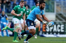 Blow for Italy as Haimona a major doubt for World Cup