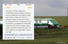 Irish Rail are trying to find a 'wonderful' young boy to give him this message