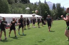 Wales are testing their quick reflexes with this funny looking game