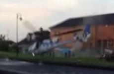 Man arrested after helicopter crash at Longford pub