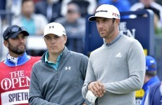 Dustin Johnson grabs the lead at the Open as Spieth tucks in behind pace-setters