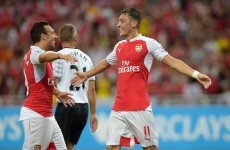 Arsenal's Mesut Ozil makes us all jealous by mesmerically juggling some tape