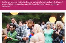 This fat bride wrote about being a fat bride and lit up the internet
