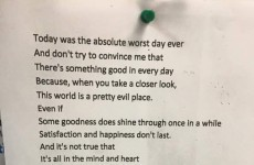 Everyone is sharing this poem with an uplifting hidden meaning