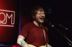 Ed Sheeran's secret gig in Dublin last night looked like serious craic