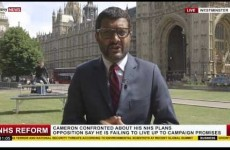 That video of magicians hijacking a live Sky News report is unfortunately fake