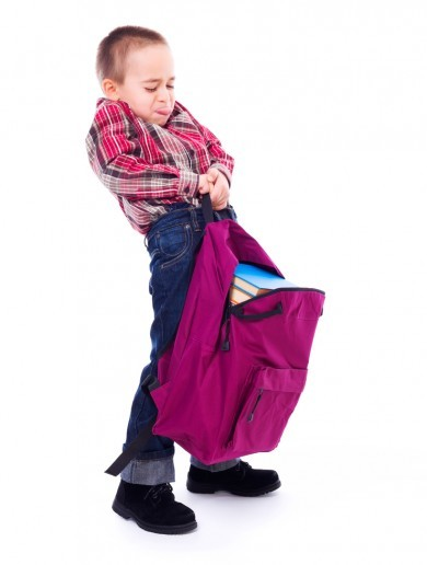 One part of the world is tackling heavy school bag ...