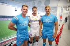 Ulster's new jerseys are a classic white and an eye-catching cyan