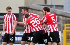 Brandywell faithful celebrate after 2 months without a goal and 12 games without a win