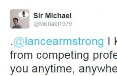 A messer from Waterford challenged Lance Armstrong to a bike race, and got a response