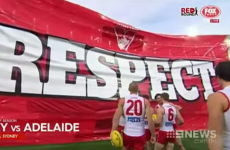 Sydney Swans win without Adam Goodes as Australians rally in support of booed indigenous player