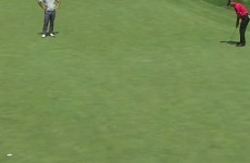 Tiger Woods was producing some old fashioned magic on the course today