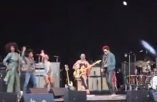 Lenny Kravitz's trousers split open to reveal his lad on stage (NSFW)