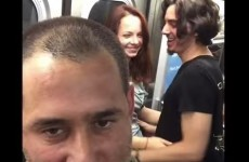 A comedian spotted some PDA on the subway, and mortified everyone involved