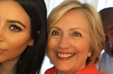 Hillary Clinton was hanging out with Kim Kardashian during the Republican debate last night