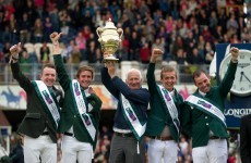 Giddy up… Ireland won the Aga Khan Trophy at the RDS this afternoon
