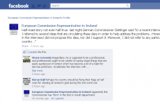 Facebook joke about EU commissioner's flag gaffe 'not an official remark'