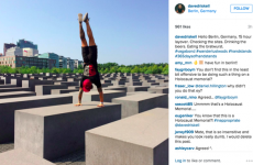 A CrossFit guru did a handstand on a Holocaust memorial and people are MAD