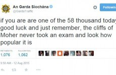 The Gardaí tweeted a rather inspiring message for Leaving Cert students