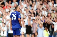 The beginning of the end? Mourinho says Terry's half-time withdrawal was purely tactical