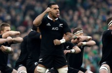 All Blacks slapped on wrist after water boy Messam's technical breach