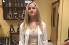 This teen was sent home from school for exposing her... collar bone