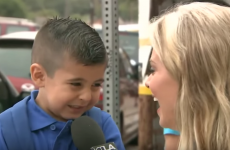 This reporter managed to break a kid's heart on his first day of school