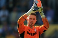 Stoke's man-of-the-match played with a broken finger today