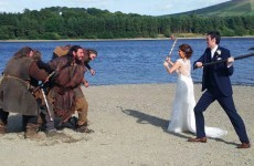 This Irish couple just nailed the greatest wedding photo ever (thanks to some Vikings)