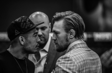 Conor McGregor and Jose Aldo met face to face again last night