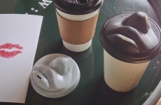 This lip-shaped coffee cup lid is next level creepy