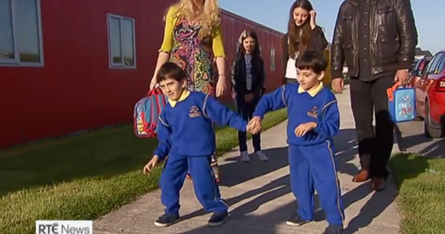 They grow up so fast: It's the first day of school for Ireland's infants