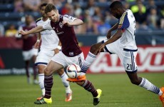 Two Irish internationals combined for Colorado Rapids' late winner last night