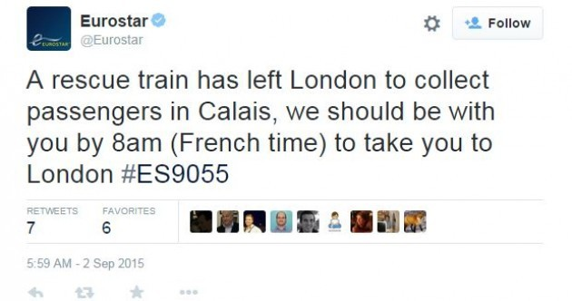 Passengers told to listen for 'walking on roof' as migrants cause Channel Tunnel chaos