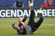 David de Gea is named in Manchester United's Champions League squad