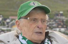 95-year-old Canon Edgar Turner travels to Faroe Islands to cheer on his beloved Northern Ireland