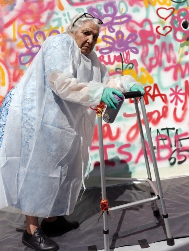 PHOTOS: 80-something graffiti artists hit the streets in Portugal