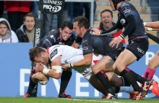 Andrew Trimble launched a rampaging Stuart McCloskey try for Ulster