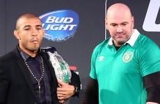 Dana White disagrees with Aldo's rank as the UFC's pound-for-pound best
