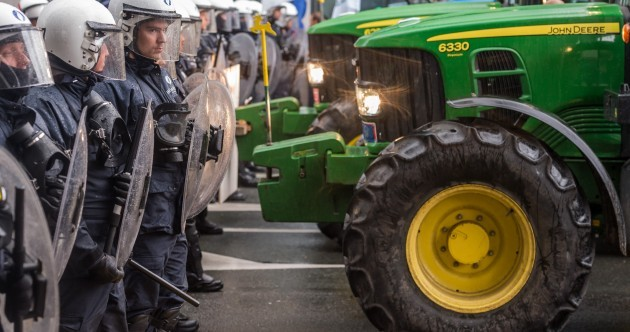 Tractor -V- Water Cannon: EU to give farmers €500m after mass protest