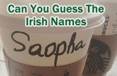 Can You Guess The Irish Names On These Starbucks Cups?