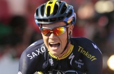 Ireland's Nicolas Roche has won today's stage at the Vuelta a Espana