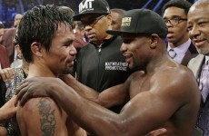 Manny Pacquiao is demanding a rematch with Floyd Mayweather