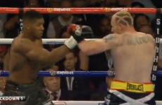 Finished in time for MOTD! Anthony Joshua wins in just 97 seconds