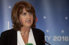 Joan Burton had a go at RTÉ live on air this morning