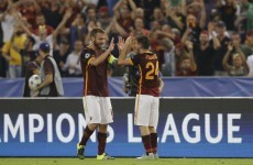 Roma full-back hits a ridiculous 50-yard strike to upstage Messi on 100th appearance