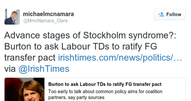 Rebel TD rejoins Labour despite these tweets